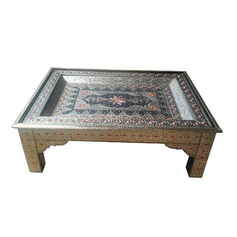 table basse de salon marocaine d 233 cor 233 e de m 233 tal artisanat de marrakech