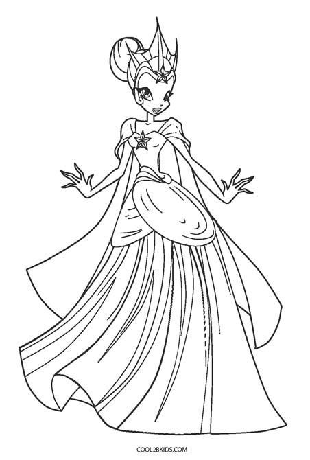 printable winx coloring pages  kids