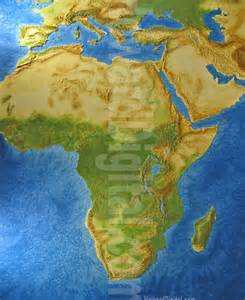 Physical Map of Africa with Landforms