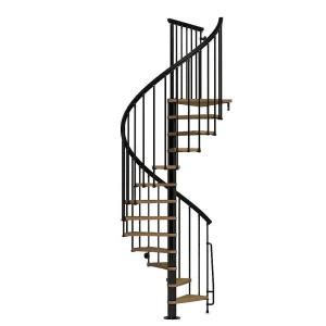 arke nice1 51 in black spiral staircase kit k50106 the