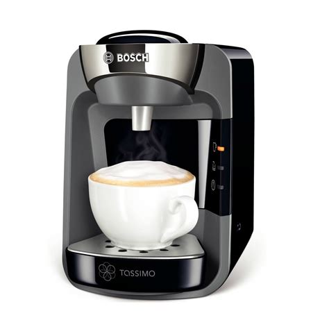 Bosch TAS3202GB Tassimo Coffee Machine & Hot Drinks Maker, Midnight Black   Bosch from