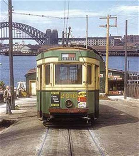 when did get color lost sydney tramways
