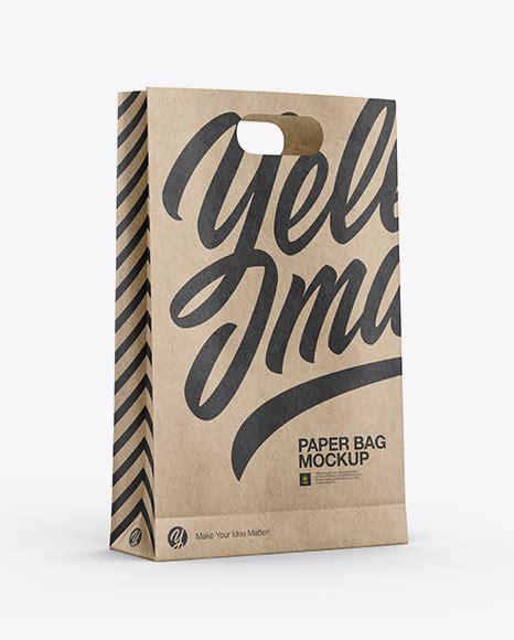 More than 100 categories, over 5000 mockups. Free Mockups Kraft Paper Bag Mockup - Half Side View ...