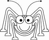 Coloring Pages Insect Bug Cartoon Grasshopper Ant Sheet Clipart Printable Insects Printables Spider Lady Tiny Drawing Clipartpanda Clipartbest Animals Smiling sketch template