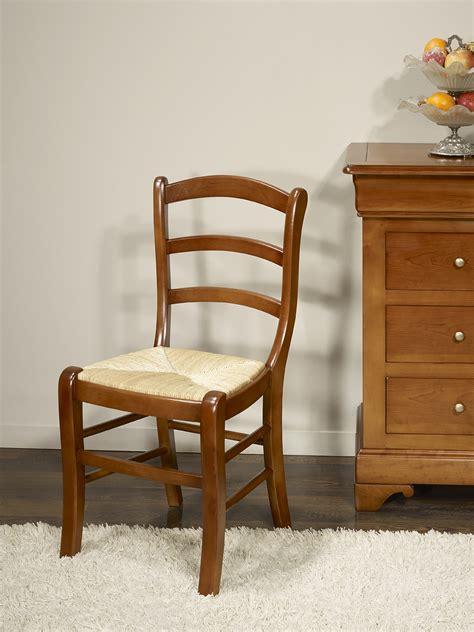 chaise en h 234 tre massif de style louis philippe meuble en merisier massif