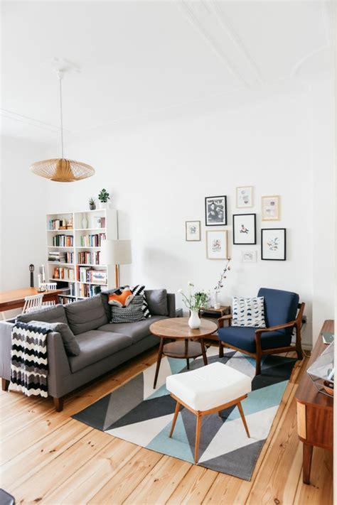 deco avec canapé gris choisir le meilleur tapis scandinave avec notre galerie