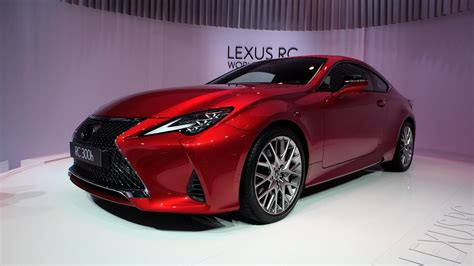 lexus debuts  refreshed rc coupe  paris motor show