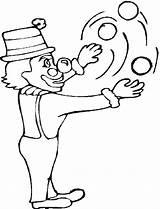Coloring Juggling Clown Circus Circles Printable Sherriallen Child sketch template