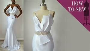 How to sew a satin open back mermaid style wedding gown for How to make a wedding dress