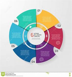 Vector Circle Infographic Template For Graphs  Charts