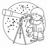 Telescope Coloring 為孩子�的�色頁 sketch template