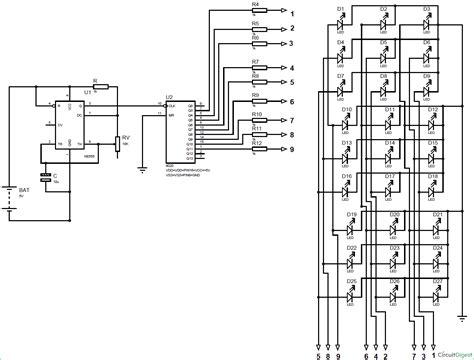 xx led cube circuit diagram   timer  cd ic