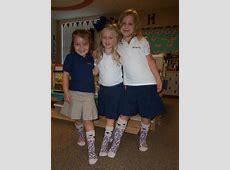 Silly Sock Day in PreK Brook Hill School Tyler, TX