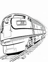 Train Coloring Pages Diesel Railroad Locomotive Crossing Truck Drawing Drawings Freight Sketch Template Templates Bullet Steam Clipartmag Getcolorings Printable sketch template