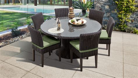 Patio Table And 6 Chairs by Venice 60 Inch Outdoor Patio Dining Table With 6 Armless