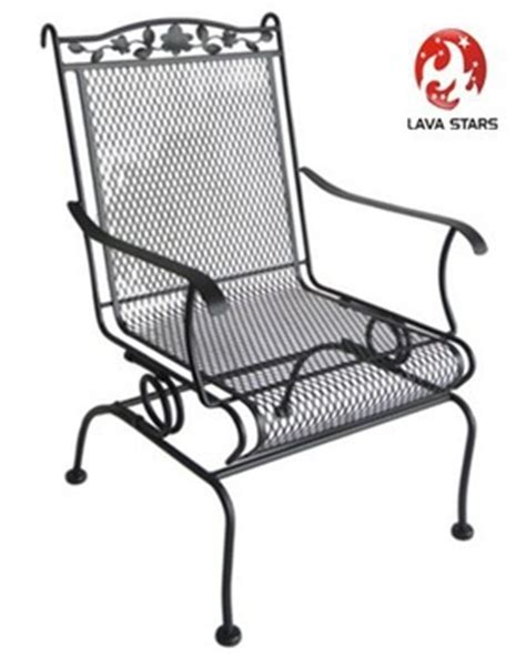 wrought iron high back motion chair patio furniture buy