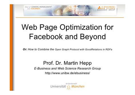 Web Page Optimization by Web Page Optimization For