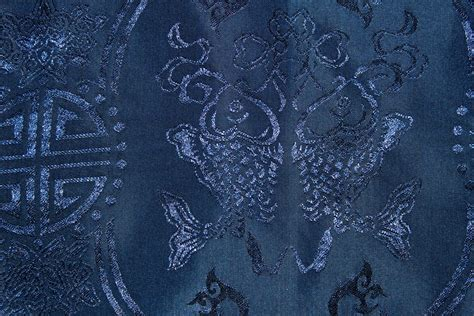 blue chinese traditional fabric  public domain stock