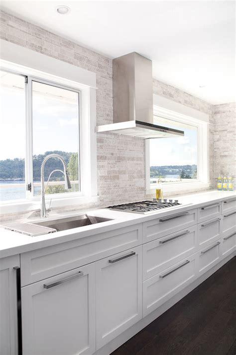 white kitchen cabinets modern no cabinets contemporary kitchen moeski design 1357