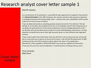 cover letter for magazine job - research analyst cover letter