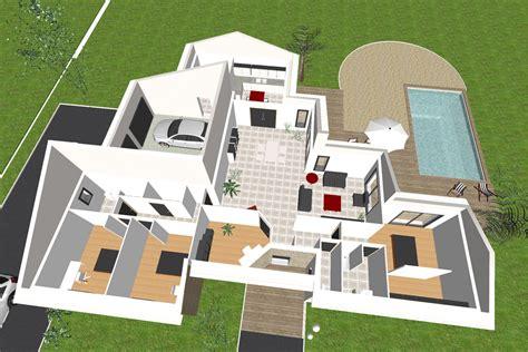 maison 3 chambres plain pied plan de maison plain pied 3 chambres 3d