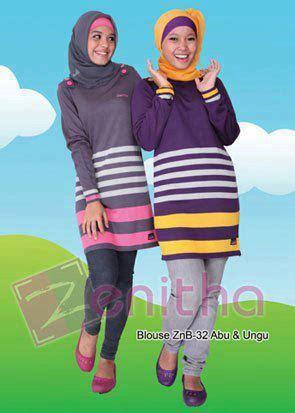 blouse remaja zenitha znb 73 busana muslim koleksi terbaru