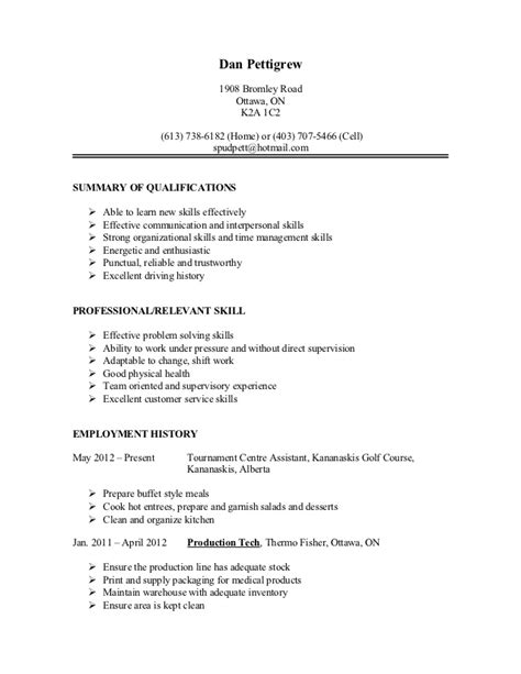 Auto Shop Resumeauto Shop Resume by Dan Resume 1