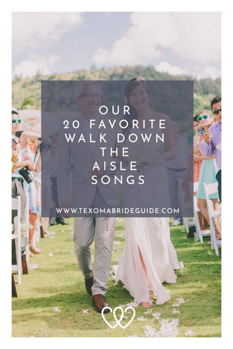 Creating a great song list for your wedding ceremony is crucial to the success of your big day. Our 20 Favorite Walk Down the Aisle Songs | Texoma Bride Guide