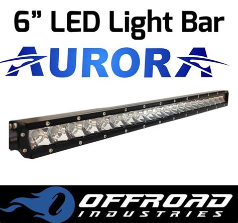 6 quot inch 5w single row led light bar offroad
