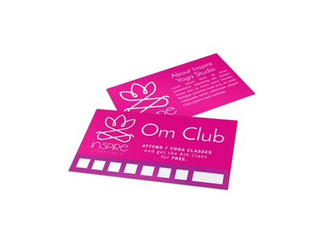 loyalty card templates mycreativeshop