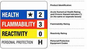 epmar safety health and environmental hazardous materials With hmis label