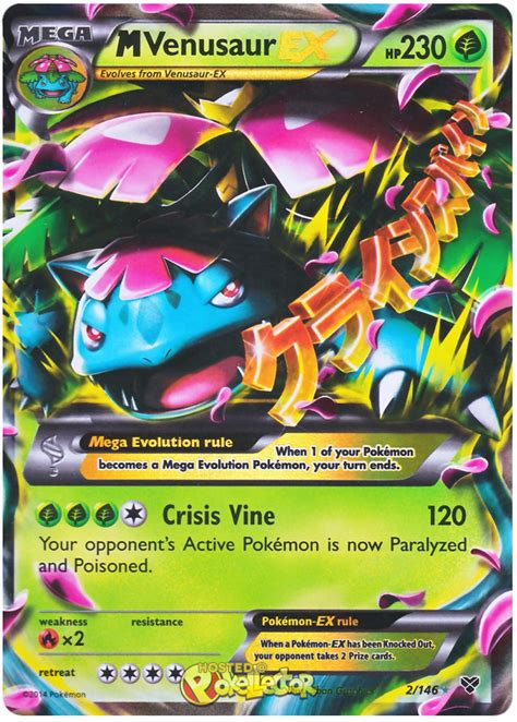 Mega Venusaur Pokemon Card Ex