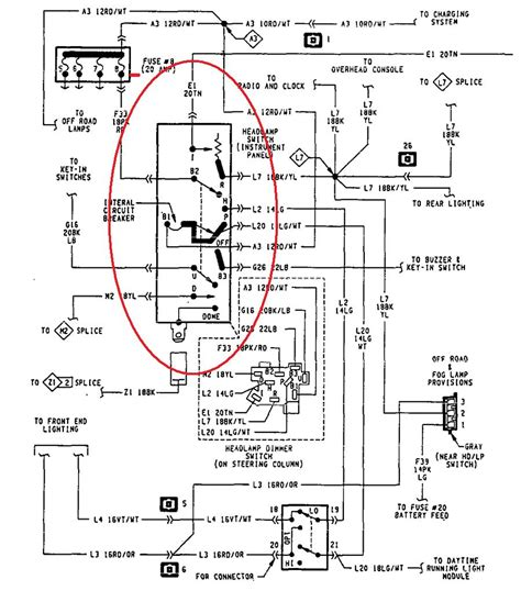 1994 Dodge Up Wiring Diagram by I A 1994 Dakota The Multi Switch Is Not Working And