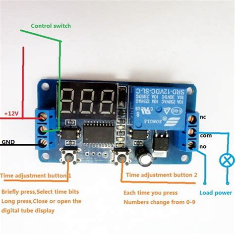 Display Led Timer Relay Delay Programmable Switch