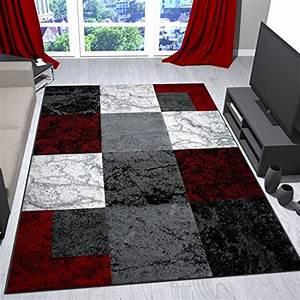 Teppich Rot Grau Schwarz : wohnzimmer teppich modern schwarz rot grau marmor stein ~ Bigdaddyawards.com Haus und Dekorationen