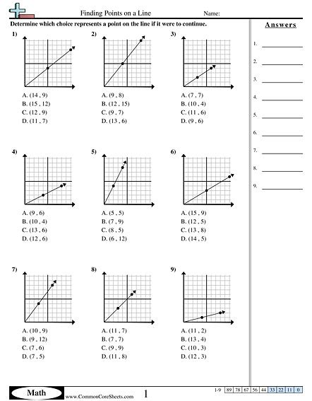 Slope Formula Worksheet Homeschooldressagecom