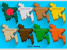 Vector 3D Icons Set Of Bangladesh Map Download Free