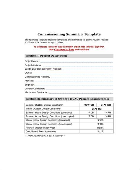 project summary templates    premium