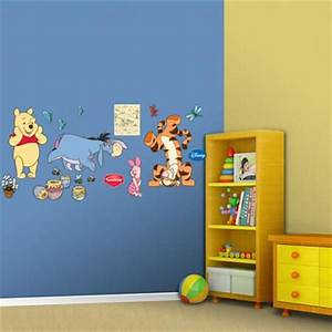 Winnie the pooh wall stickers home design for Kitchen colors with white cabinets with winnie the pooh canvas wall art