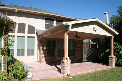 Patio Covers by Patio Cover In Houston Gable Roof Hhi Patio Covers