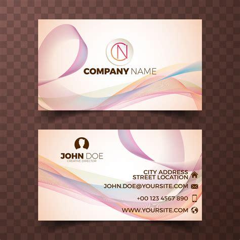 vector modern business card design template  clean