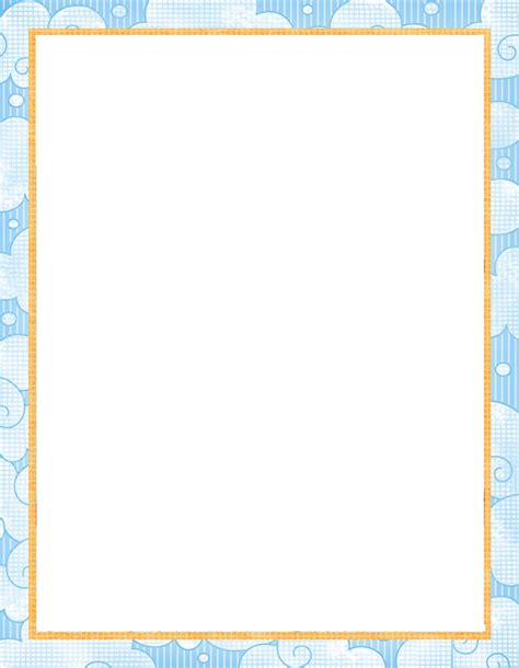 printable baby borders  paper printable  degree