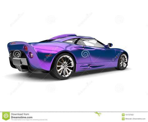 Shimmering Purple Luxury Super Sports Car Stock