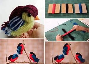 Diy Yarn Birds