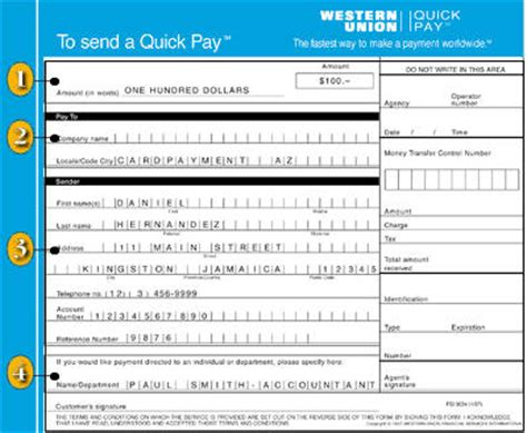 quick pay form searchitfast web western union blank form