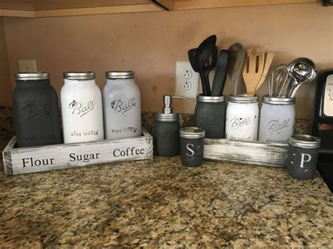 Jars Kitchen Decor by Creative Country Kitchen Decoration Ideas Using Jars