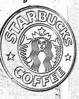 Starbucks Printable Drawing Coloring Template Imgarcade Credit Larger sketch template
