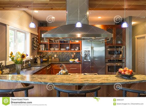 cuisine a la maison bar de cuisine dans l 39 intérieur à la maison classieux