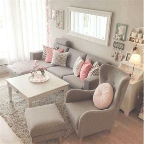 pretty pretty grey pink living room home sweet home