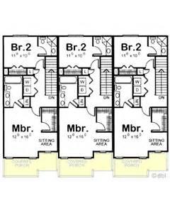 amazingplans multi plex plan db7228 triplex - European Country House Plans